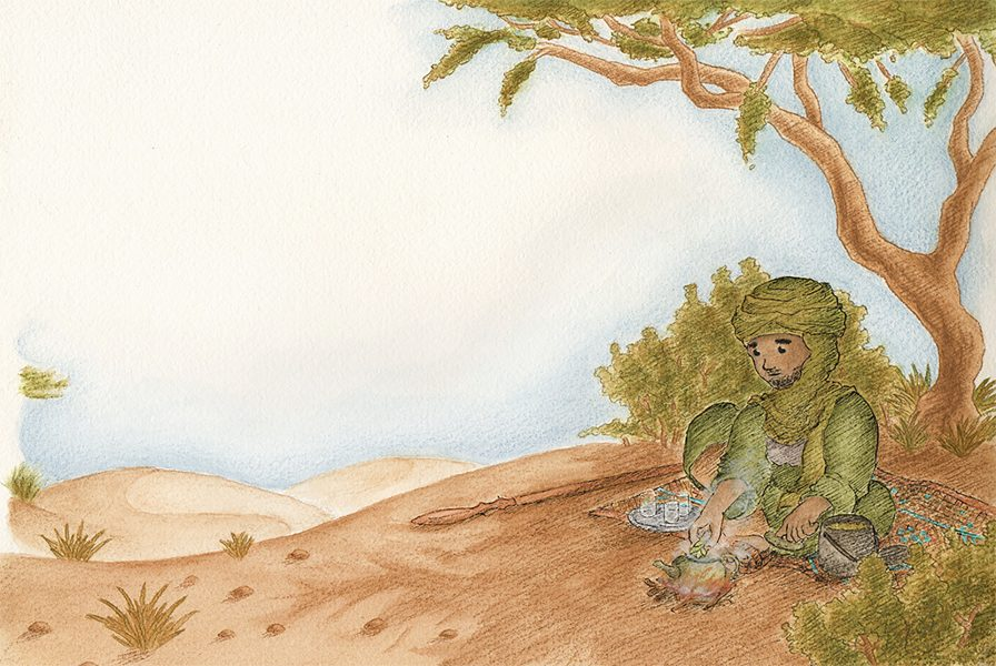 Illustration Souedh le souffle du désert par Romain Nivealeau