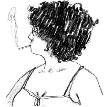 Portrait en dessin d'Amandine Ciosi