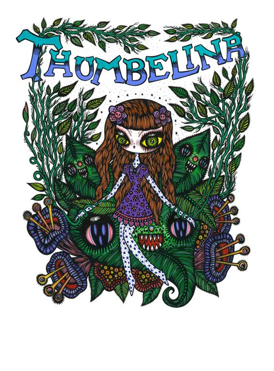 Page dessinée pour Thumbelina