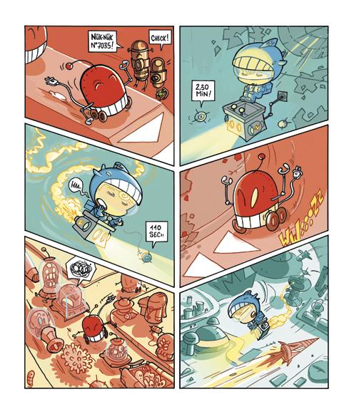 Planche extraite de la bande-dessinée Bulby Crunch par Tristoon