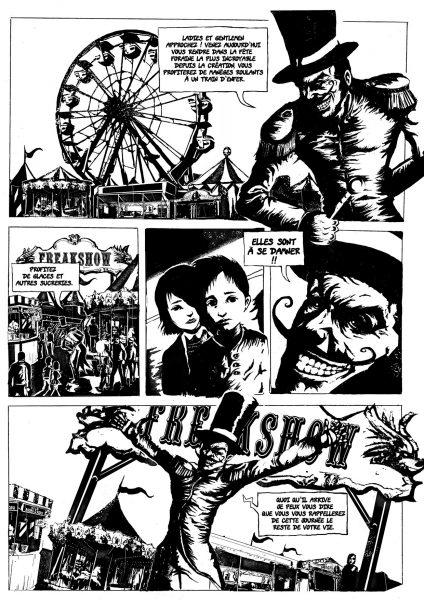 planche extraite de la bande-dessinnée Freakshow