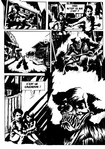 Planche extraite de la bande-dessinée Freakshow