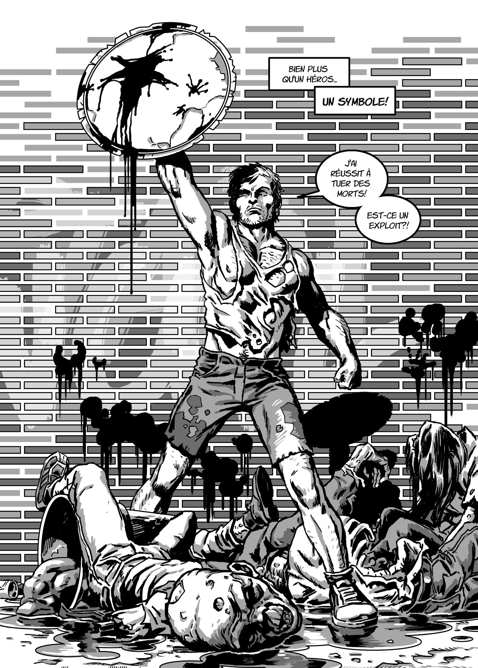 extrait issu du comics La trainée jaune 2, c'est super !