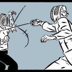 Illustration extraite du roman graphique Riposte par Dan Christensen