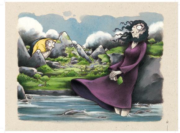 Illustration issue de l'album Fleur de Géant par Nicolas Poupon